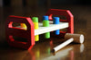 Image of Child's Classic Wooden Pounding Bench Toy for Toddlers, Pound & Tap w/ Wood Hammer & Colored Pegs