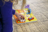 "Image of Cute Pets Baby Animal Chunky Wooden Puzzle w/ ""Easy-Hold"" Colorful Solid Wood Pieces"