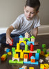 Image of Alphabet Wooden Building Blocks Set | Brightly Colored 80 pc Block Set | Made from Durable Beech & Juniper Wood