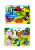 "Image of Fun Wooden Chunky Puzzle Pack of 2 - Dinosaurs & Princess Castle - for Toddlers, Preschool Age w/ ""Easy-Hold"" Colorful Solid Wood Pieces"