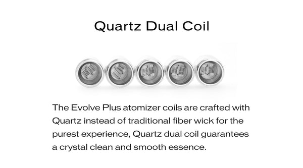 Evolve Plus Replacement Coils and Caps (Pack of 5)