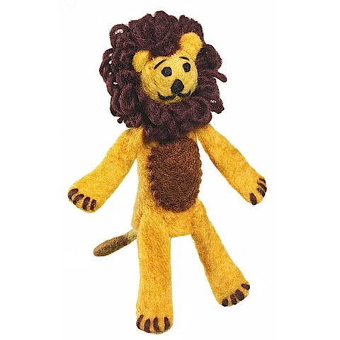 Handcrafted Woolie Finger Puppet  Lion