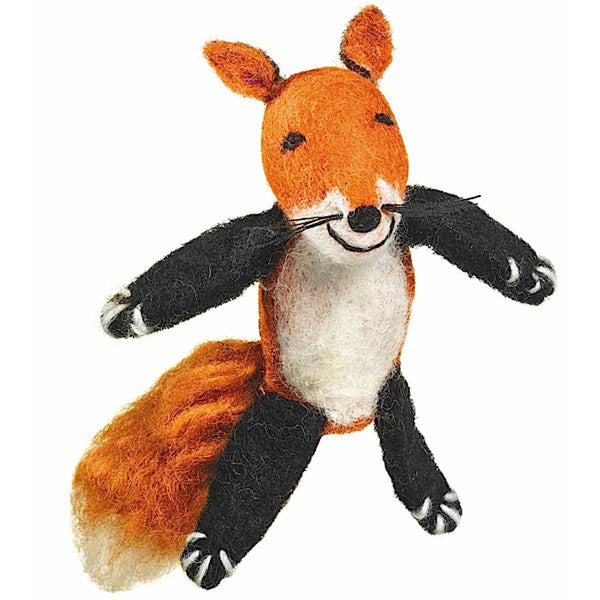 Handmade and Fair Trade | Woolie Finger Puppet - Fox
