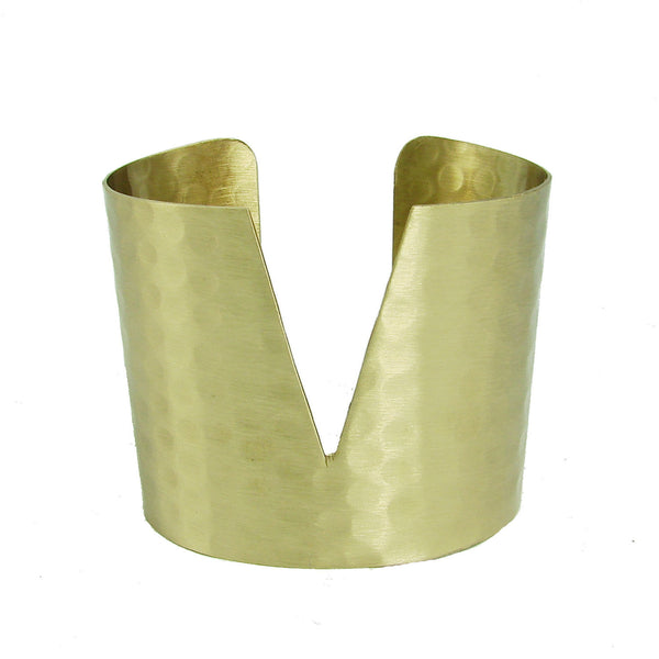 Handcrafted Triangular Cuff  Gold
