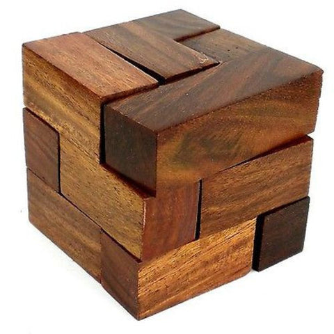Handcrafted Handmade Cube Puzzle