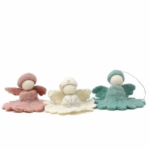 Pink Angel Felt Ornament - Global Groove (H)