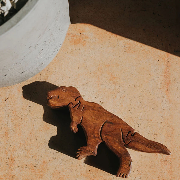 Indian Rosewood T-Rex Puzzle Box - Matr Boomie