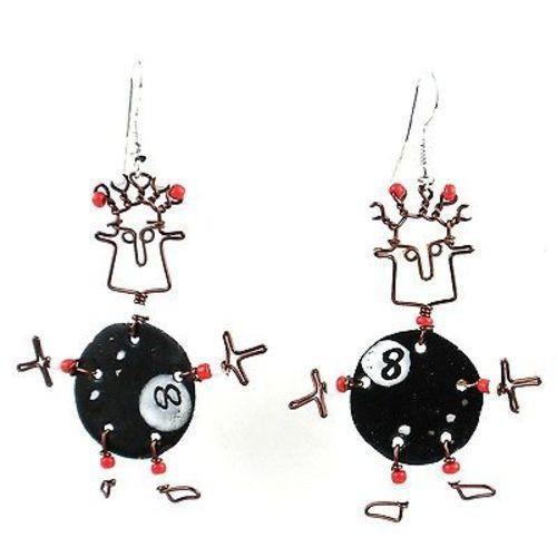 Dancing Girl Eight Ball Earrings - Creative Alternatives