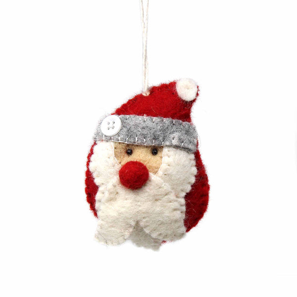 Hand Felted Christmas Ornament: Santa - Global Groove (H)