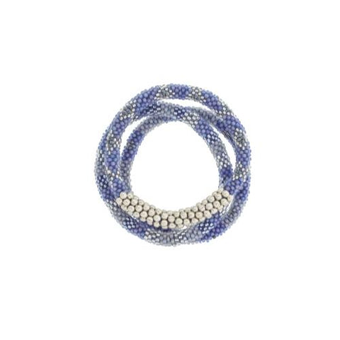 Statement Roll-On Bracelets, Blue Boardwalk - Aid Through Trade