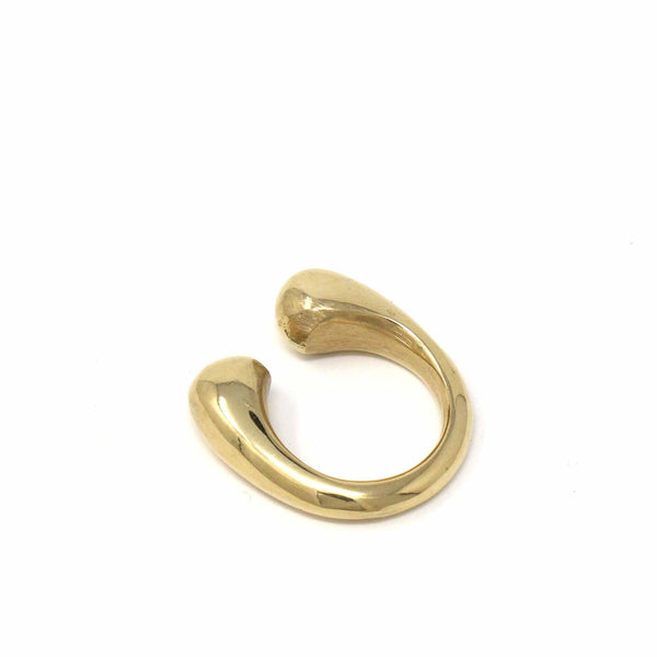 Ring: Brass Chunky Wrap, Size 6