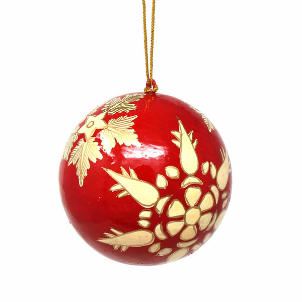 Handpainted Ornaments Gold Snowflakes