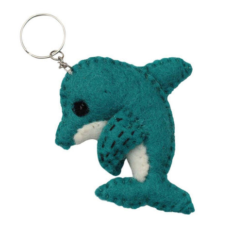 Felt Dolphin Key Chain - Global Groove (A)