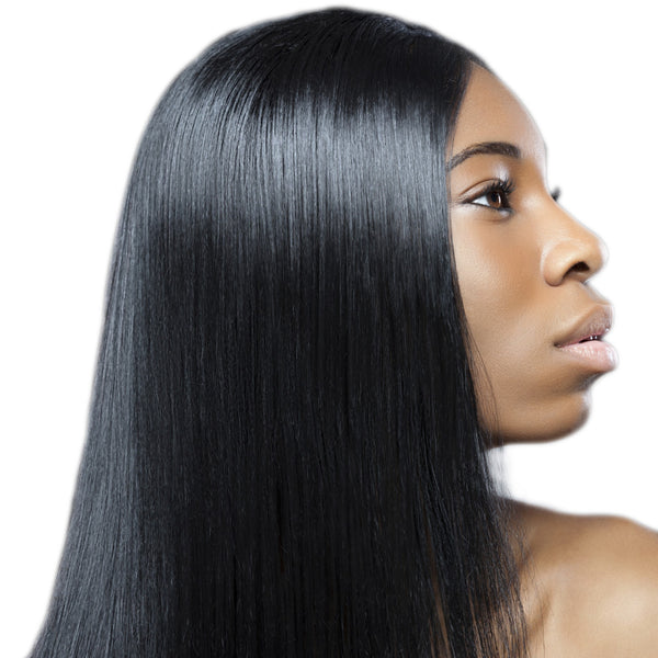 Straight human hair extensions