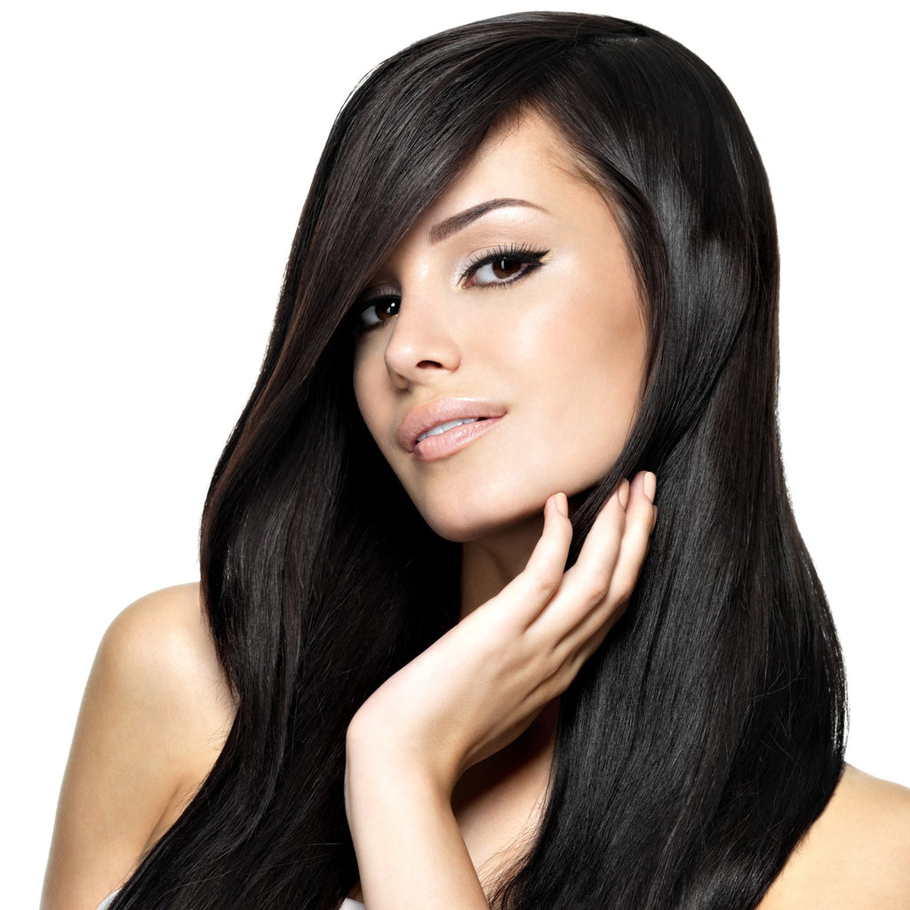 20 Inch Jet Black Clip-in Hair Extensions & Wigs In London Ontario