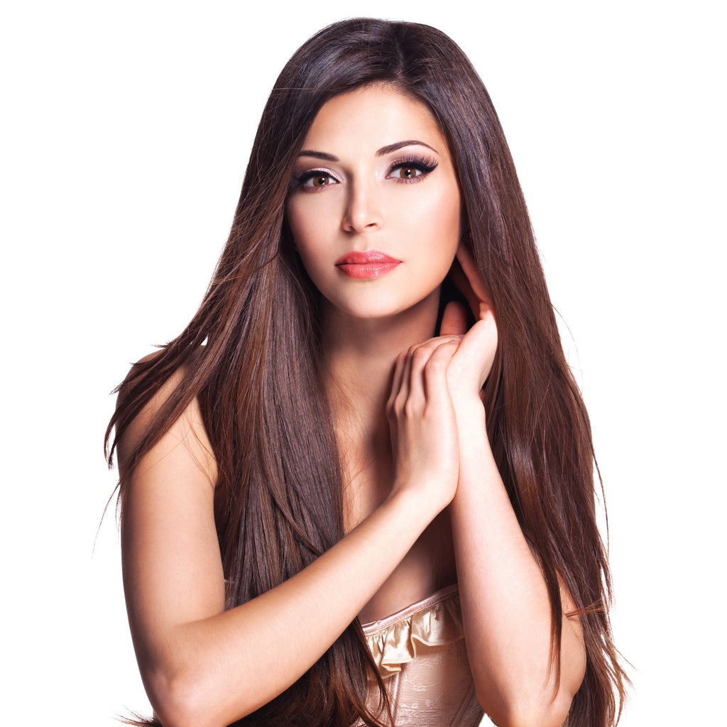20 Inch Mocha Brown Clip-in Hair Extensions & Wigs In London Ontario