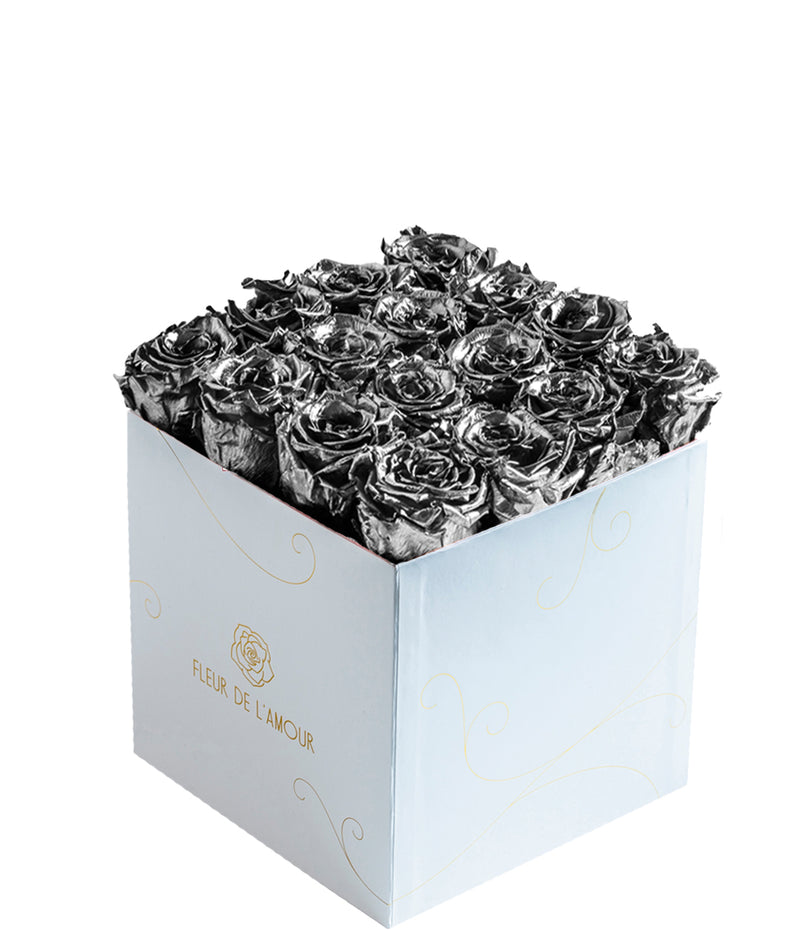Metallic Everlasting Bloom Seize - White Box - Guaranteed to Last Years
