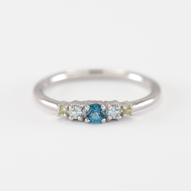 Topaz and White Gold Ring Maya
