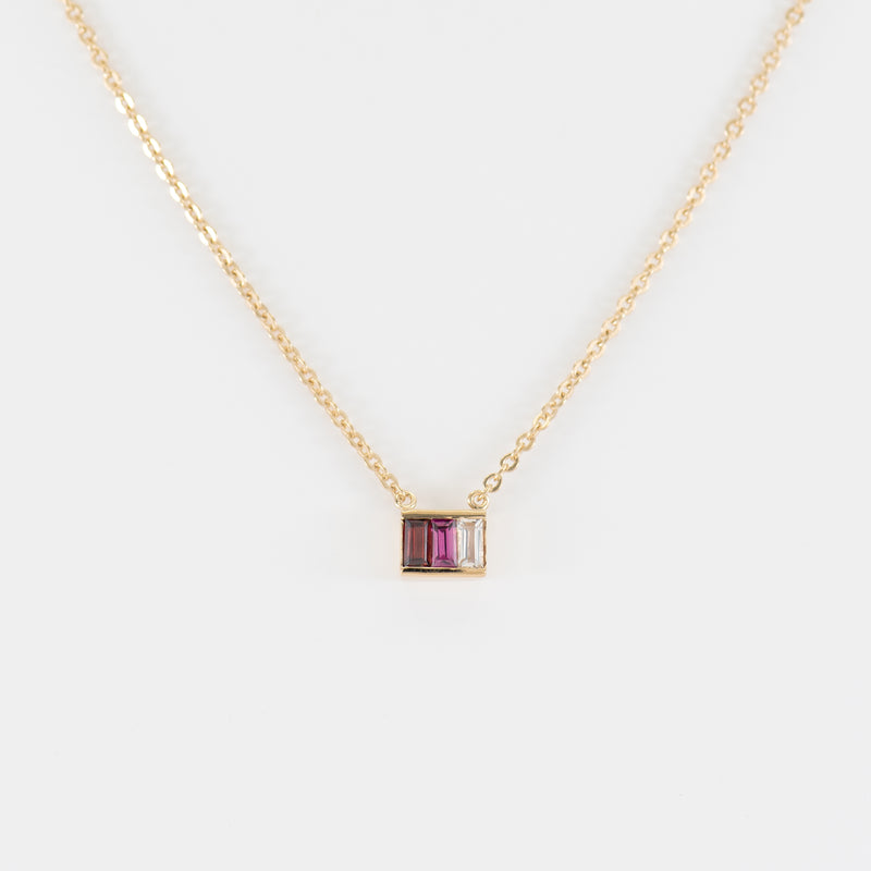 Rhodolite, Garnet, Topaz necklace Hathor