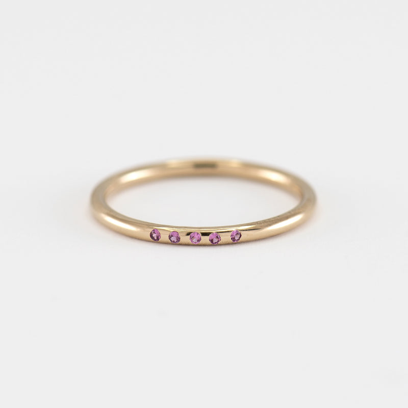 Pink Sapphires on Gold Ring Ariana