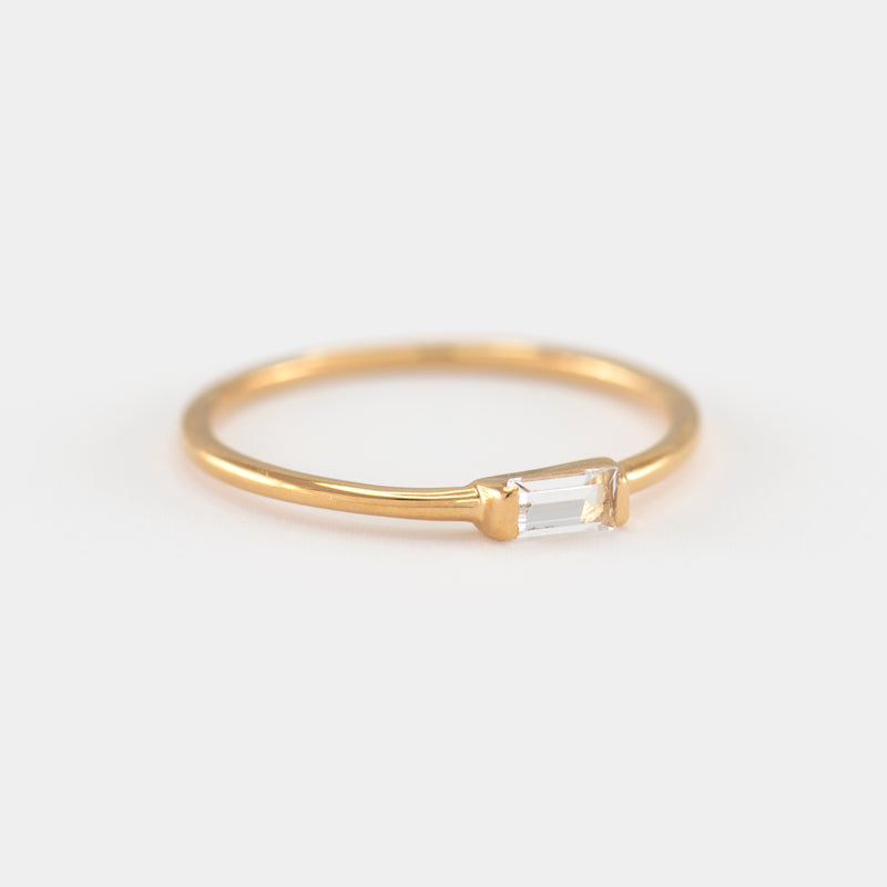 White Topaz Gold Ring Reese