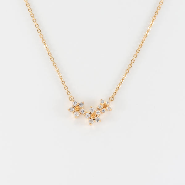 White Topaz and Citrine Necklace Gemma