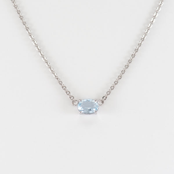 Aquamarine White Gold Necklace Teaghan