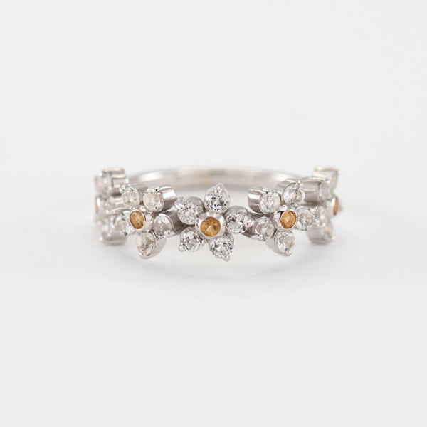 Claire Topaz White Gold Ring