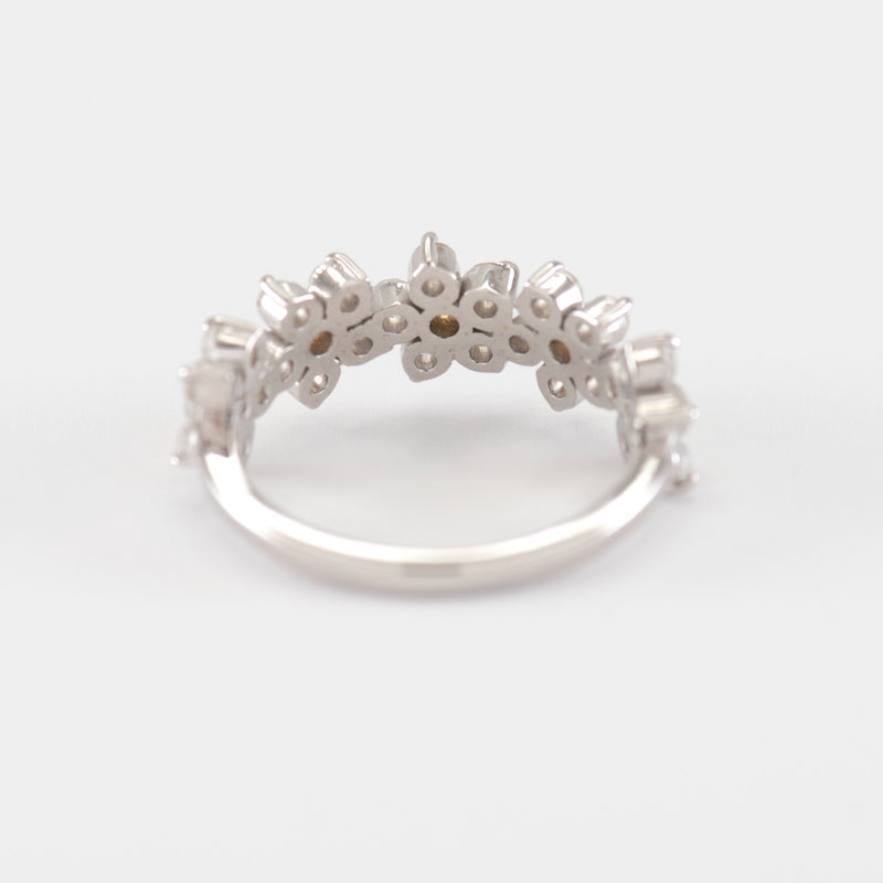 Claire Topaz White Gold Ring back view