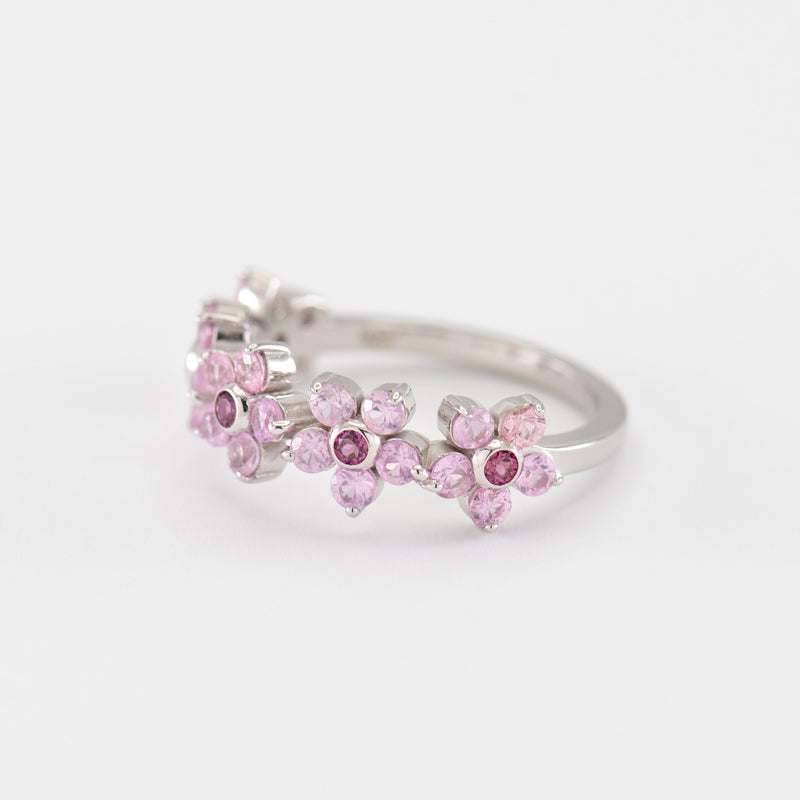 Yuri Sapphire Rhodolite White Gold right view