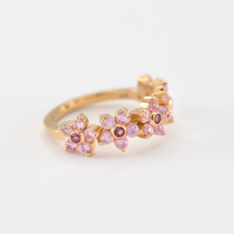 Yuri Sapphire Rhodolite Yellow Gold right view