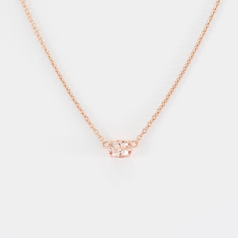 Morganite Rose Gold Necklace Beth
