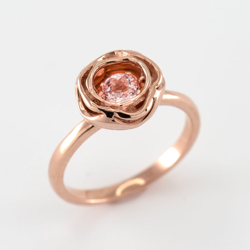 Morganite Rose gold ring Chellie top view