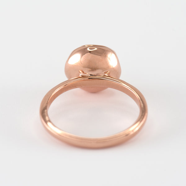 Morganite Rose gold ring Chellie back view