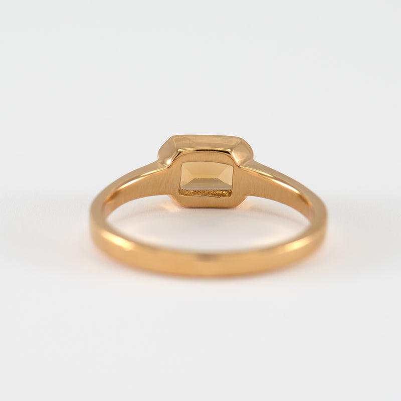 Citrine Gold Ring Bree back view