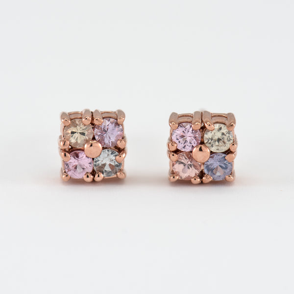 Sapphires stud rose gold earrings Norah