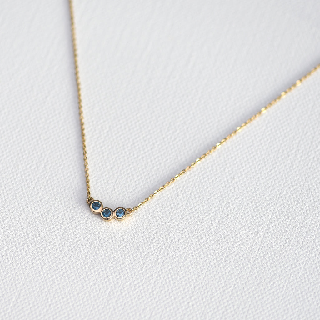 Blue topaz necklace Hazel