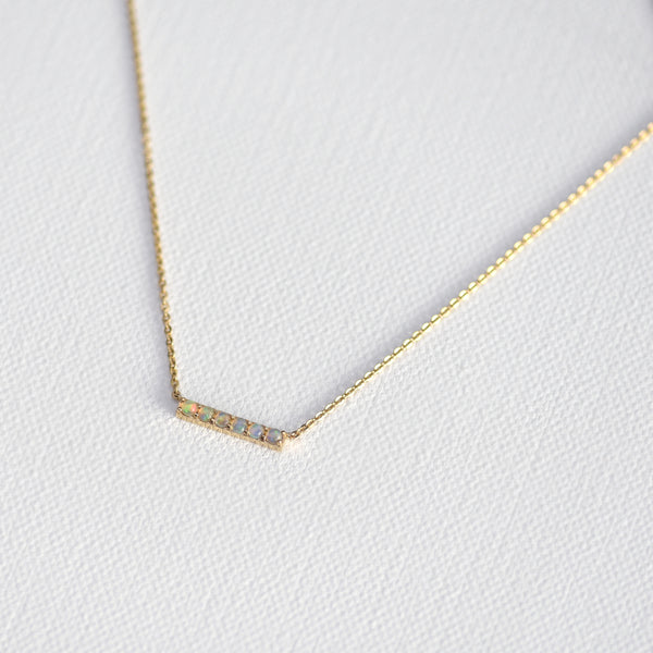 Alyssa Opal Bar Necklace