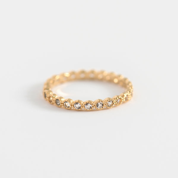Liana white topaz on gold ring