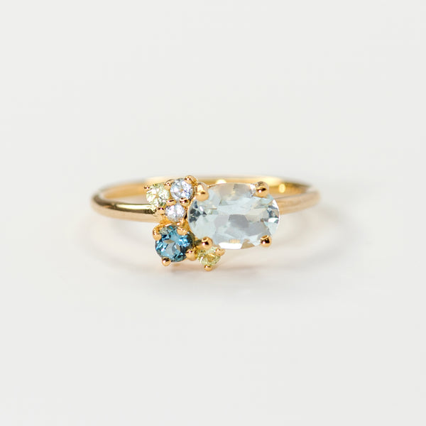 Hayden Topaz gold ring