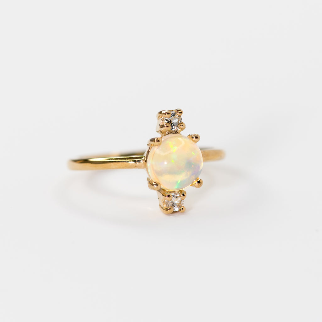 Celine Opal and Topaz gold ring