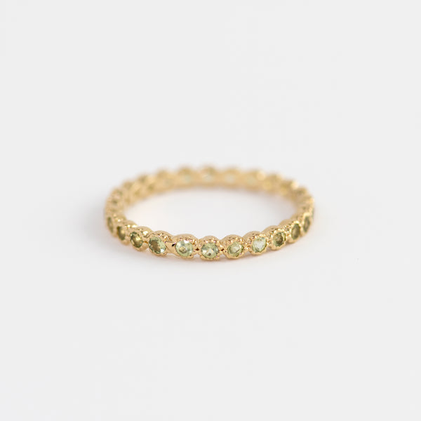 Peridot Gold band Leonore