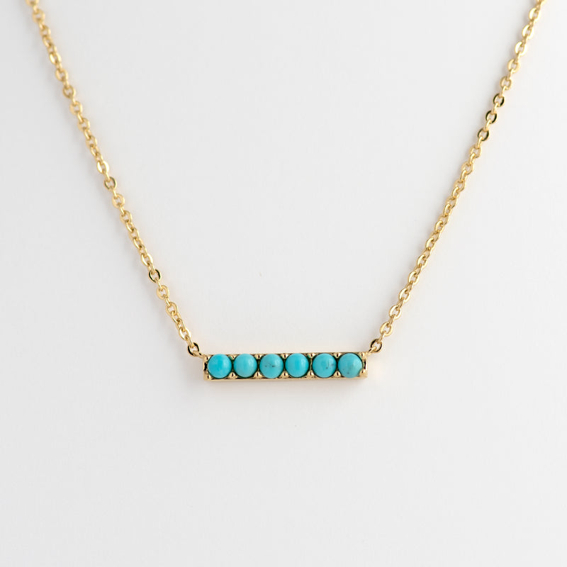 Turquoise Yellow Gold necklace Kira