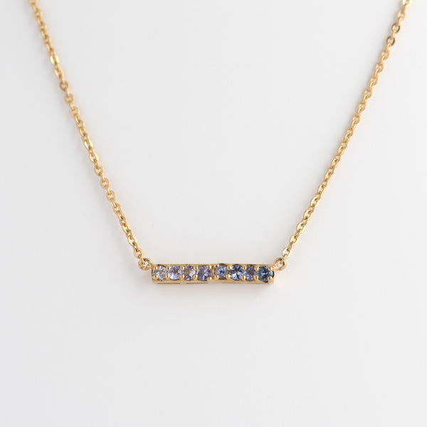 Tanzanite Gold Bar Necklace
