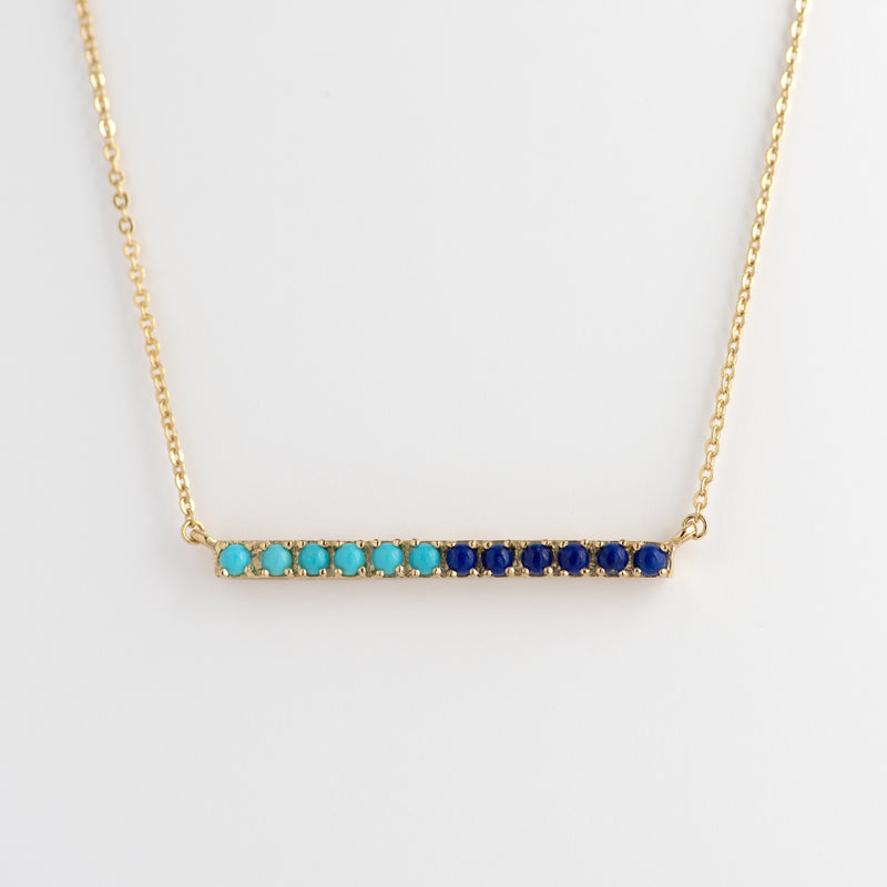 Lapis Lazuli and Turquoise Gold necklace