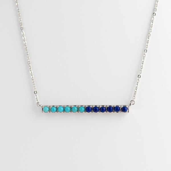 Lapis Lazuli and Turquoise White Gold necklace