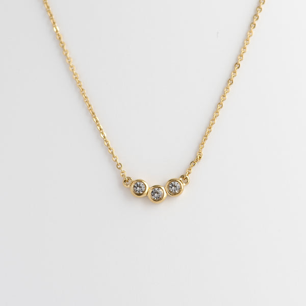 White Topaz Gold Necklace Alma