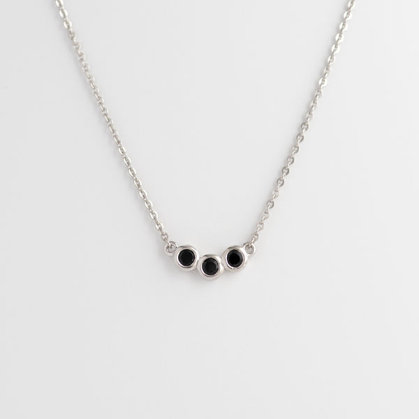 Black Spinel White Gold necklace Karla
