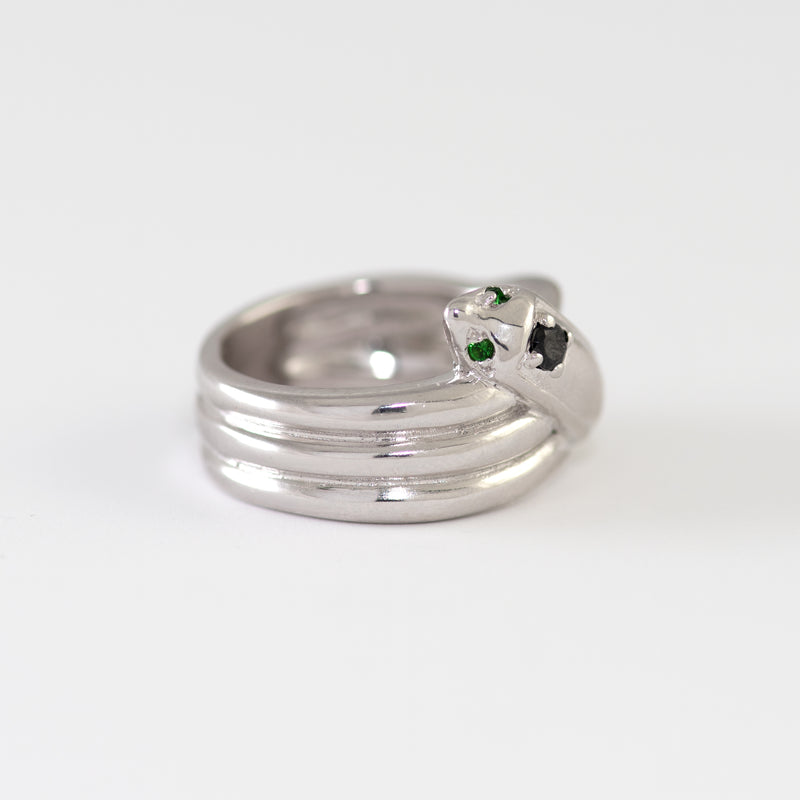 Belinda White gold ring alt view