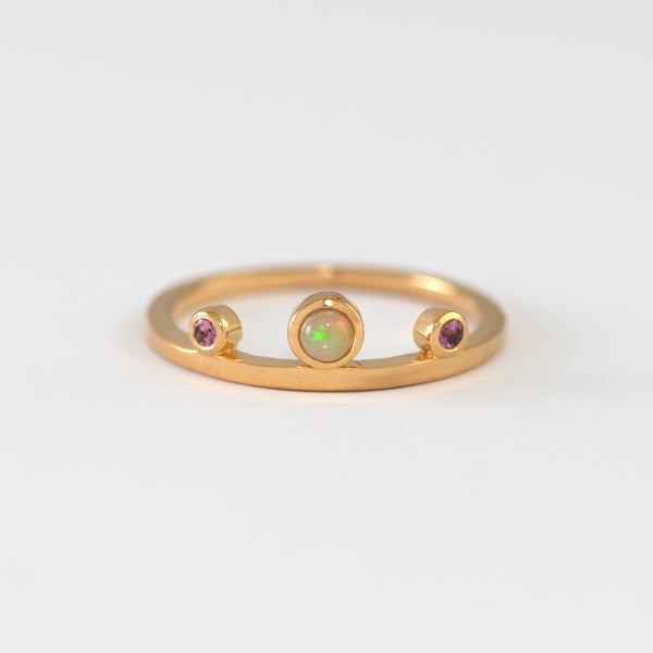 Sherlyn Opal and Tourmaline Gold Ring